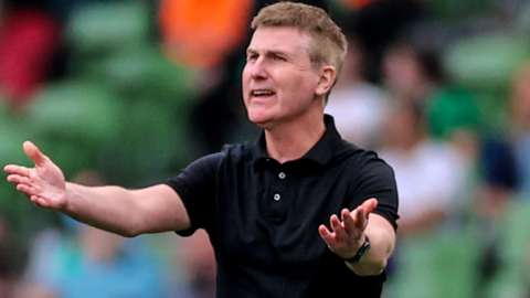 Stephen Kenny tries to rally his Republic of Ireland side in Saturday's game