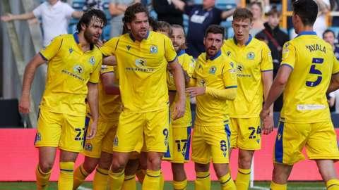 Blackburn celebrate equalising against Millwall