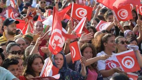 Tunisia football fans