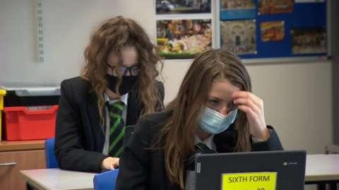 Students at laptops