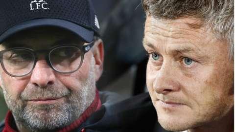 Liverpool manager Jurgen Klopp (left) and Manchester United manager Ole Gunnar Solskjaer