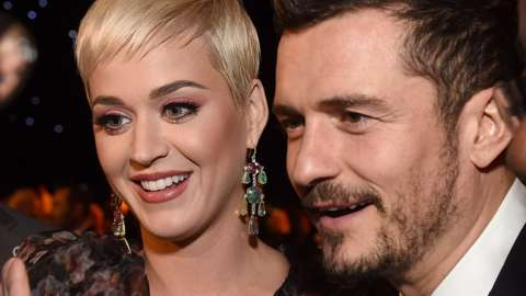 Katy Perry and Orlando Bloom at the MusiCares Person of the Year 2019 ceremony