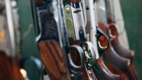 Shotguns in a rack