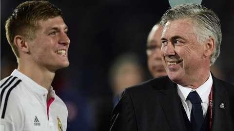 Carlo Ancelotti and Toni Kroos