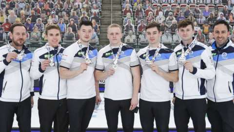 The silver medal winning Scottish team
