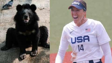 Black bear and Monica Abbott