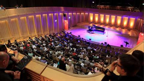 The audience and stage at the Cardiff Singer of the World
