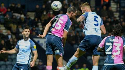 Patrick Bauer's 61st-minute header put Preston back on level terms against Coventry