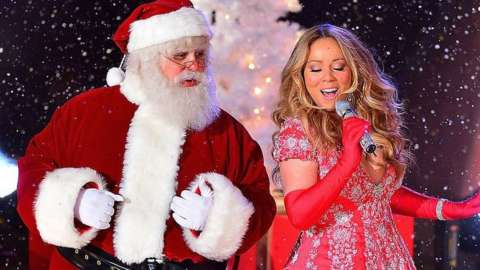 Santa Claus and Mariah Carey