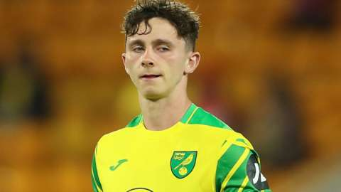 Daniel Adshead in action for Norwich City