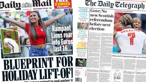 Daily Mail and Daily Telegraph
