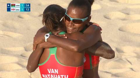 Vanuatu beat England in beach volleyball quarter-final