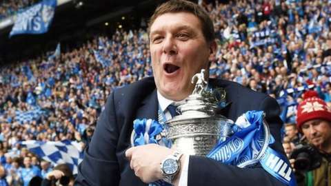 Tommy Wright led St Johnstone to their only major trophy - the 2014 Scottish Cup