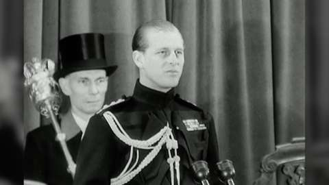 The duke at the ceremony