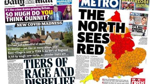 Composite image of the Daily Mail and Metro front pages