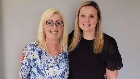 Alison McDonald (L) and Vicci Hughes