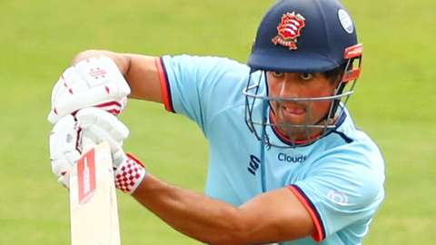 Alastair Cook bats for Essex