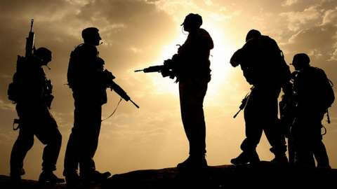 File picture of British soldiers in Afghanistan
