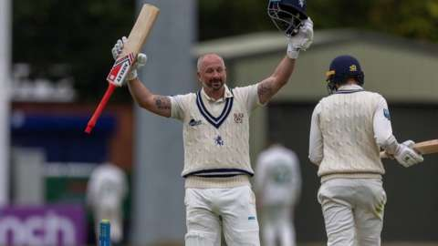Darren Stevens made the 36th first-class century of his career