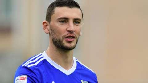 James Wilson in action for Ipswich