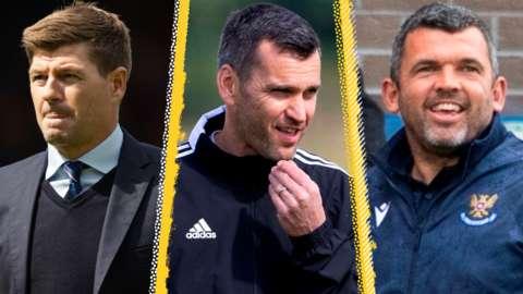 Steven Gerrard, Stephen Glass and Callum Davidson