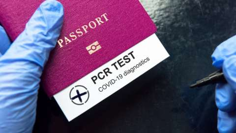 Passport and PCR test