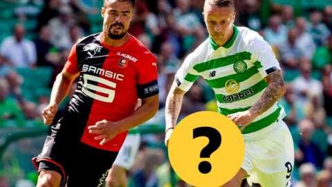 Rennes' Damien Da Silva and Celtic's Leigh Griffiths