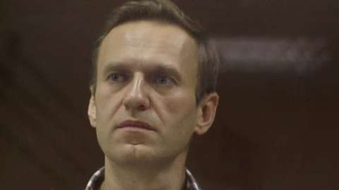 Alexei Navalny in court in Moscow, 2 February