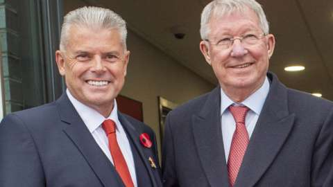 Dave Cormack and Sir Alex Ferguson