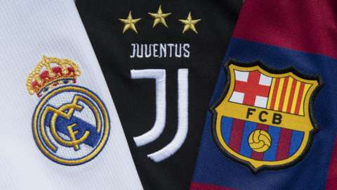 Real Madrid, Juventus and Barcelona