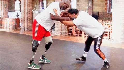 Saeed wrestling with David