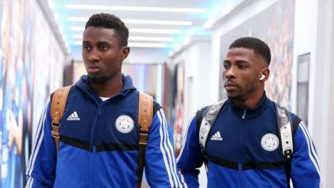 Leicester City and Nigeria duo Wilfred Ndidi (left) and Kelechi Iheanacho