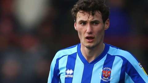 Blackpool midfielder Matty Virtue