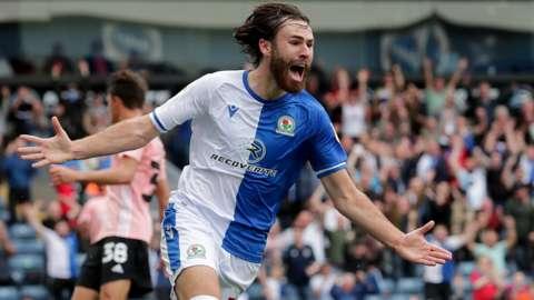 Blackburn Rovers' Ben Brereton Diaz celebrates