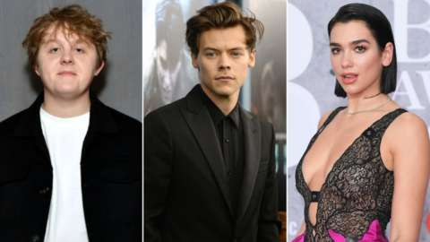 Lewis Capaldi, Harry Styles and Dua Lipa