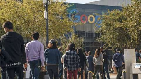 Google employees stage a walkout in November 2018 over sexual misconduct allegations