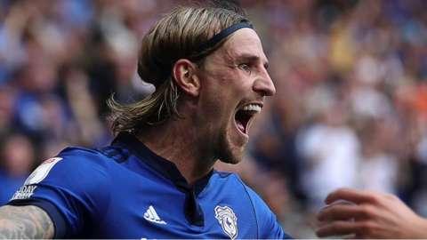 Cardiff defender Aden Flint