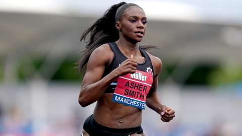 Dina Asher-Smith competing