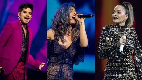 Adam Lambert, Mchelle Gonzalez and Rita Ora