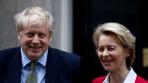 Prime Minister Boris Johnson and European Commission President Ursula von der Leyen