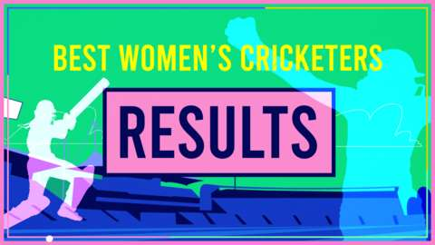 Best Women's Cricketer results graphic