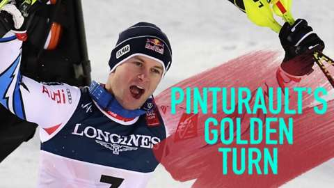 Brilliant slalom run gives Pinturault combined gold
