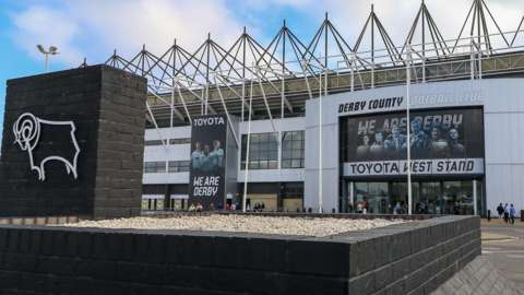 Pride Park, home of Derby County