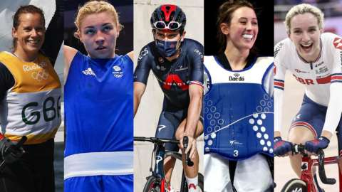 Hannah Mills, Lauren Price, Geraint Thomas, Jade Jones and Elinor Barker