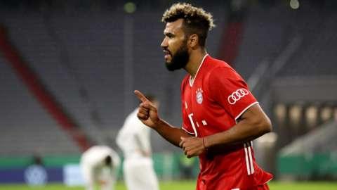 Eric Maxim Choupo-Moting celebrating a goal for Bayern Munich