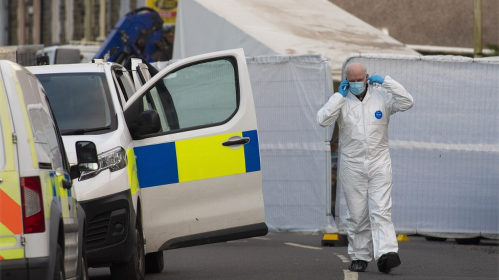 Police forensic team in Treorchy