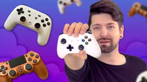 Chris Fox with games controllers