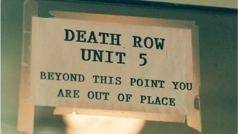 Sign for a prison's death row unit