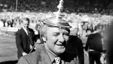 Tommy Docherty with the FA Cup