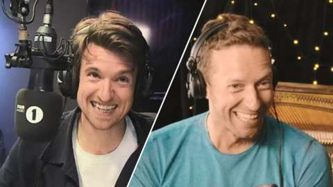 Greg James and Chris Martin